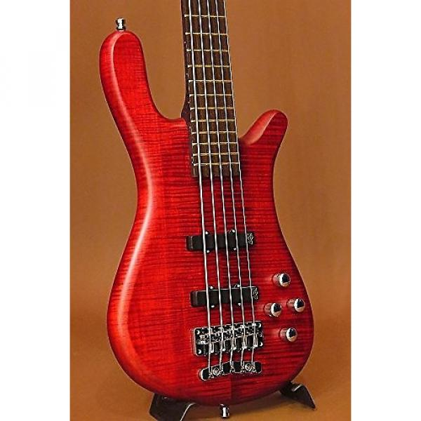 Custom Warwick Streamer LX 5-String Burgundy Red Electric Bass #1 image