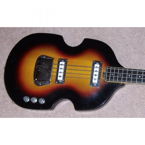 Custom Vox Violin bass  solid body 1965 sunburst #1 image