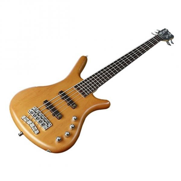 Custom Warwick RockBass Corvette 5-String Basic Active Bass - Honey Volin #1 image