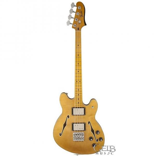 Custom Fender Starcaster Hollowbody Electric Bass Guitar in Natural - 0243302521 #1 image