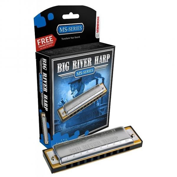 Custom HOHNER Big River Harmonica, Key F#, Germany, Diatonic,  Includes Case, 590BL-F# #1 image