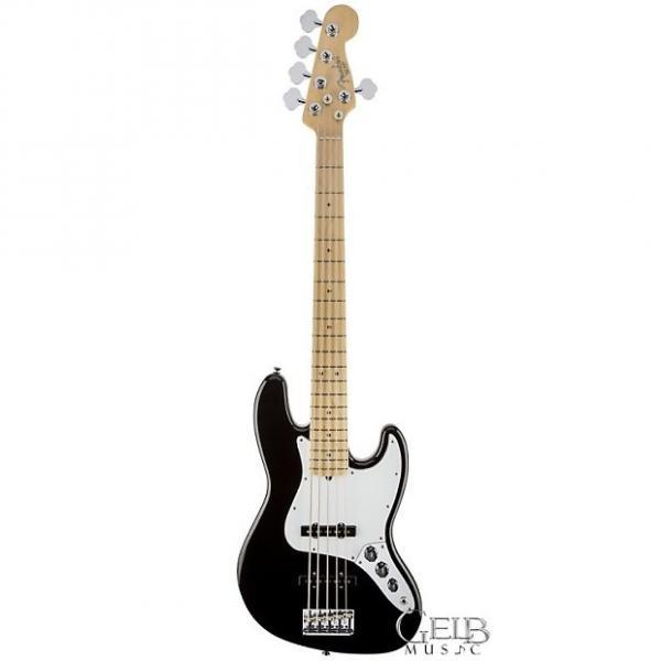 Custom Fender American Standard Jazz Bass V Five String Electric Bass Guitar in Black - 0193752706 #1 image