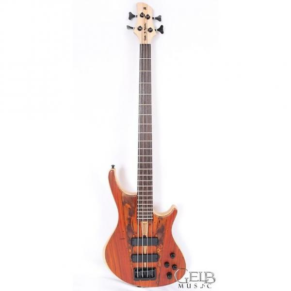 Custom Roscoe SKB Standard Plus 4 String Electric Bass Guitar, Swamp Ash Body Cocobolo Top, Bartolini H013 #1 image