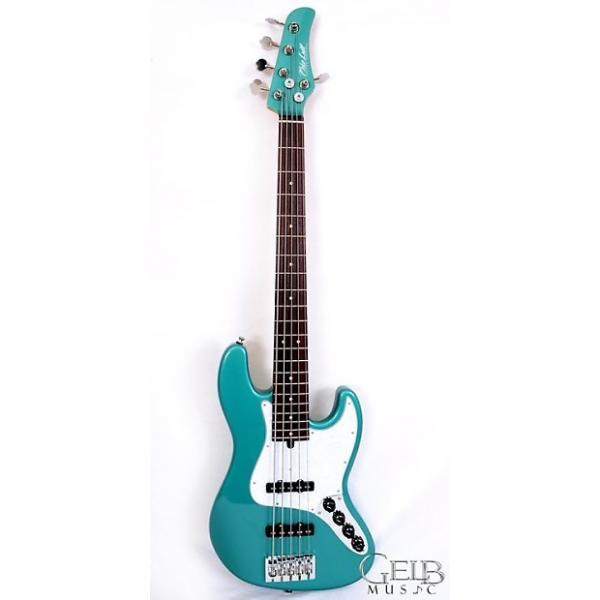 "Custom Mike Lull M5V-34"" Scale Electric Bass Guitar, Alder Body, Duncan Pickups, in Sherwood Green - 2804 #1 image"