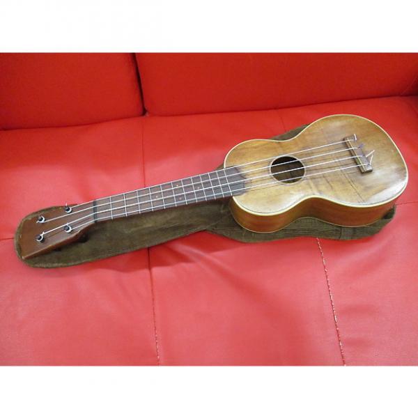 Custom Martin 2 koa soprano ukulele 1919 koa with bag #1 image