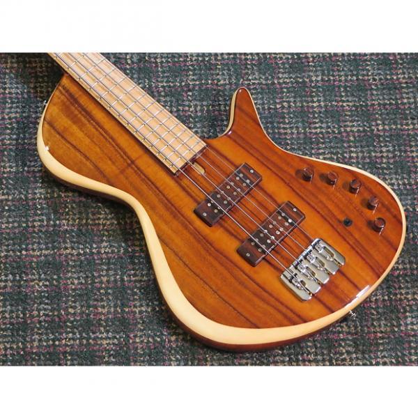 Custom Ziegenfuss USA Custom Single-Cut 4 String Bass! Koa! w/roadcase #1 image