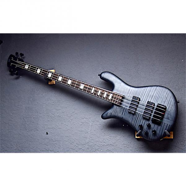 Custom Spector Left Handed Euro 4LX-TW 2016 Trans Black Satin Lefty Bass Guitar #1 image