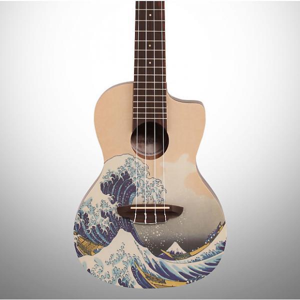 Custom Luna UKEGWC Great Wave Concert Ukulele with Gig Bag #1 image