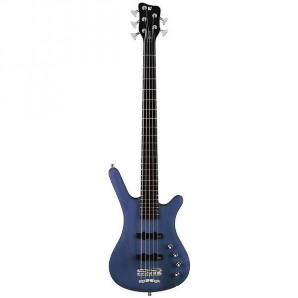 Custom Warwick Corvette Rockbass Basic Active Bass Guitar (5 String, Oil Finish, Ocean Blue) #1 image