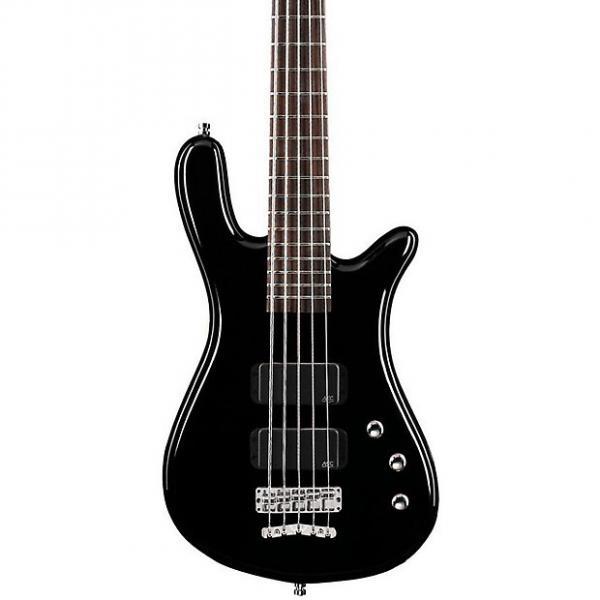 Custom Warwick Rockbass Streamer Standard 5-String Electric Bass Guitar Black HP #1 image