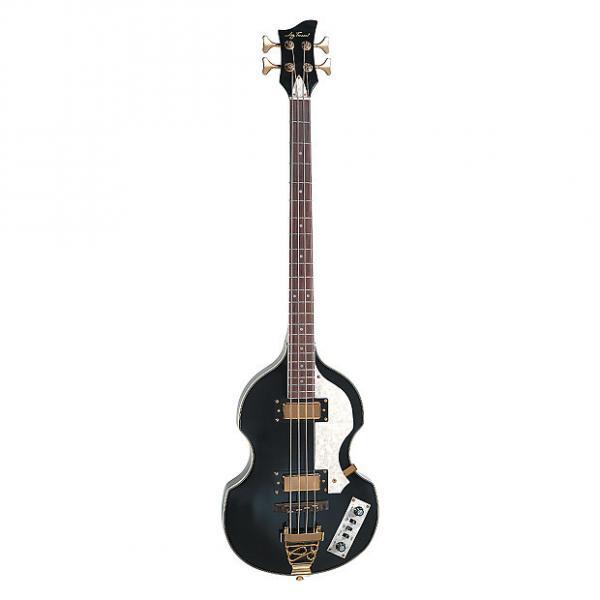 Custom Jay Turser JTB-2B Series Electric Bass Guitar, Black #1 image