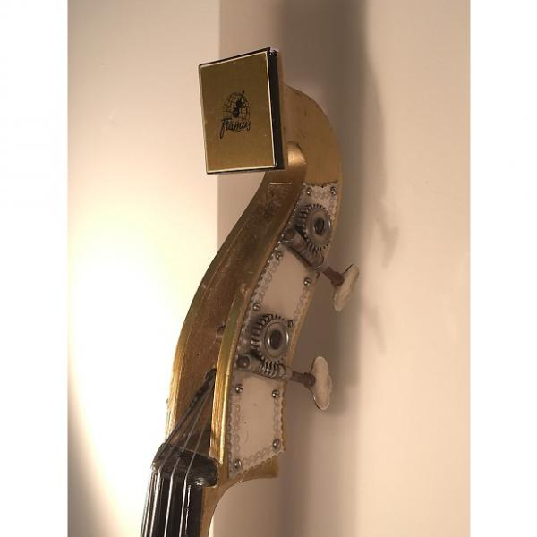 Custom Framus electric upright bass 4/60 Triumph  1950s Gold gilt #1 image