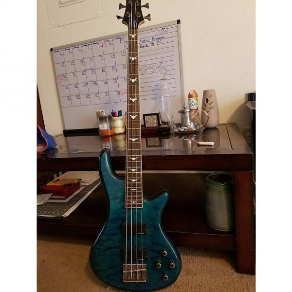 Custom Schecter Stiletto Extreme 4  Ocean Blue #1 image