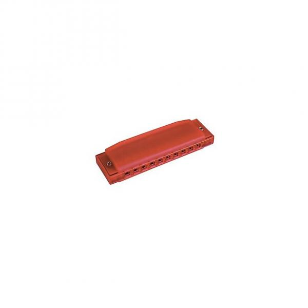 Custom Hohner Happy Color Harp 10 trous Do - Harmonica diatonique rouge #1 image