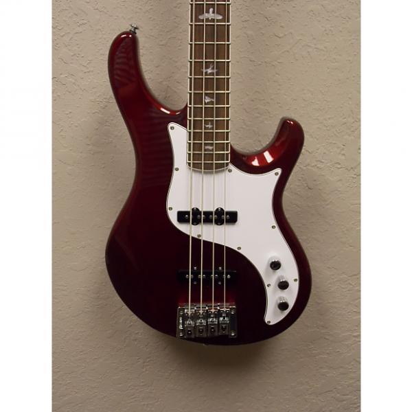 Custom PRS SE Kestrel 4-String Jazz Style Bass 2015 Metallic Red w/ Deluxe Gigbag #1 image