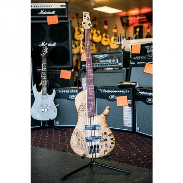 Custom Ibanez Bass Workshop SRSC800NTF  2016 Poplar Burl *Store Demo* #1 image