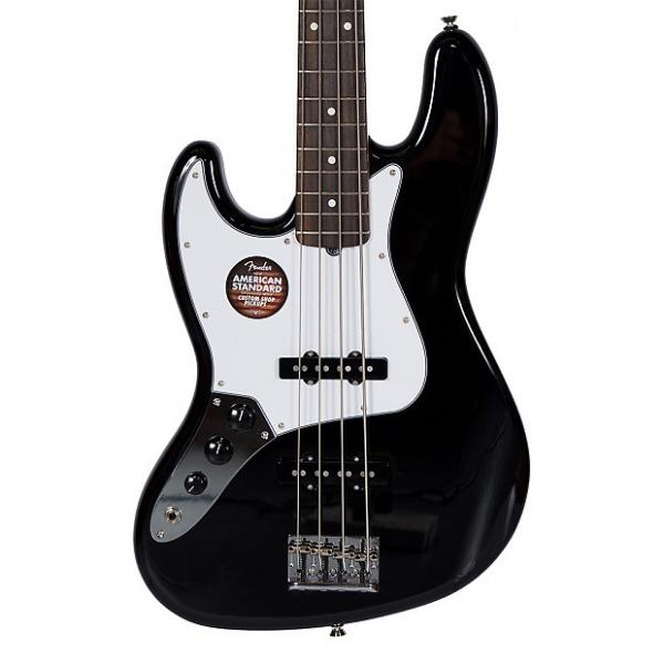 Custom Fender American Standard Jazz Bass Black Left-Handed w/Case #1 image