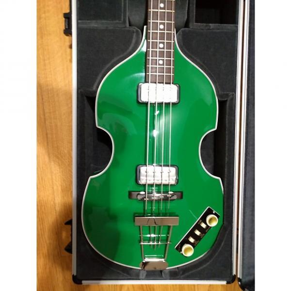 Custom 60% OFF retail! Hofner Gold-Label Custom Berlin Green Violin Bass with Hardshell case #1 image