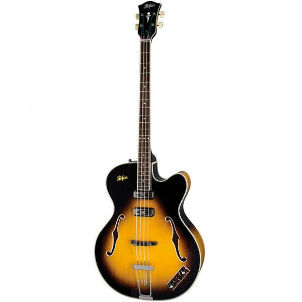 Custom Hofner President Bass - CT 4-String Hollow Bass Guitar w/ Case #1 image