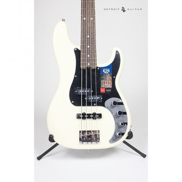 Custom Brand New Fender American Elite Precision Bass Olympic White w/ Case #1 image