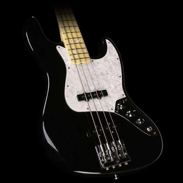 Custom Fender USA Geddy Lee Electric Jazz Bass Guitar Black #1 image