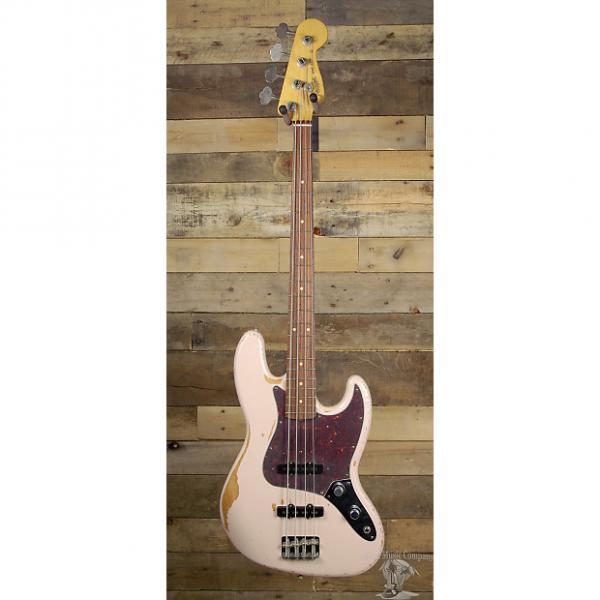 Custom Fender Flea Jazz Bass Road Worn Shell Pink Finish #1 image