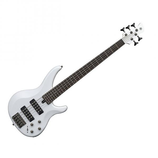Custom Yamaha TRBX305 5 String Electric Bass White #1 image