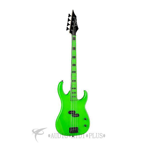 Custom Dean Guitars Zone 4 Strings Electric Bass Guitar Nuclear Green - CZONEBASSFLP - 819998018887 #1 image