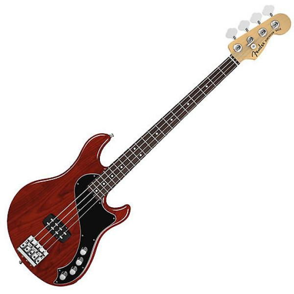 Custom Fender American Deluxe Dimension Bass IV with Rosewood Fingerboard - Cayenne Burst #1 image