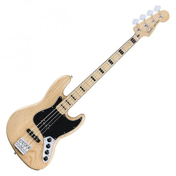 Custom Fender Deluxe Active Jazz Bass with Maple Fingerboard - Natural #1 image