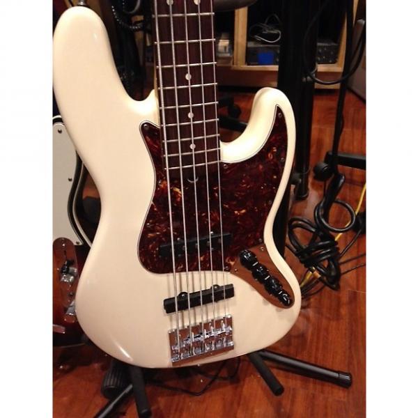 Custom fender 5 string jazz bass Artic White #1 image