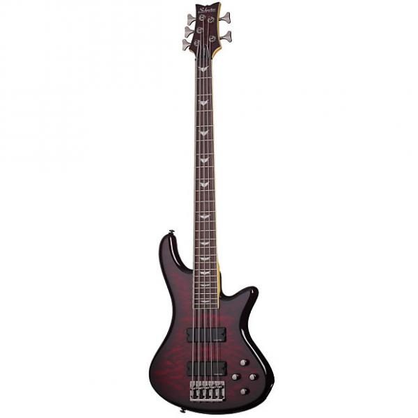 Custom Schecter Stiletto Extreme-5 Black Cherry BCH Electric Bass B-Stock Extreme5 Extreme-V ExtremeV #1 image