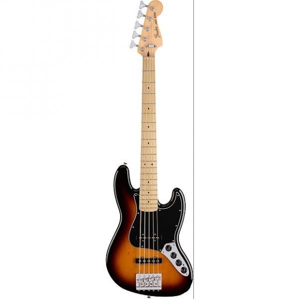 Custom Fender Deluxe Active Jazz Bass V MN 3-Tone Sunburst with Gig Bag 2016 #1 image