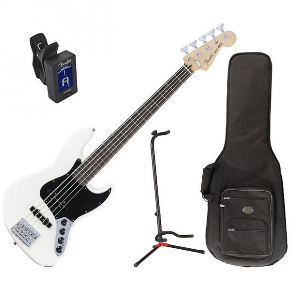 Custom Fender 014-3610-305 Deluxe Active J Bass Guitar Bundle #1 image