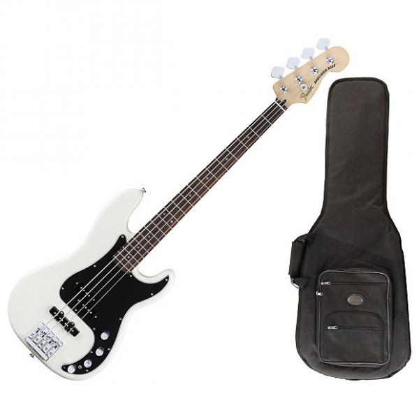 Custom Fender 014-3410-305 Olympic White Deluxe Active P Bass #1 image