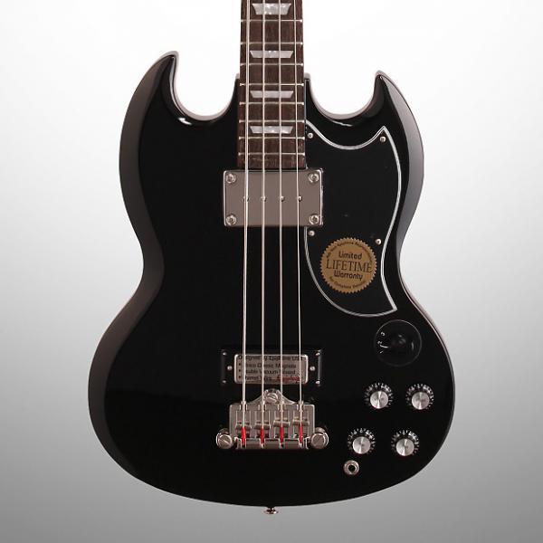 Custom Epiphone EB-3 Electric Bass, Ebony #1 image