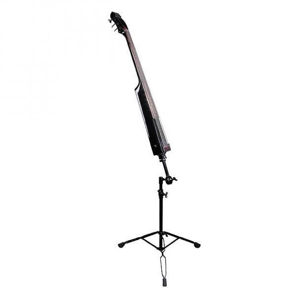 Custom Dean PACEBCBK Pace Bass 4-String Electric Upright Bass with Case - Classic Black #1 image