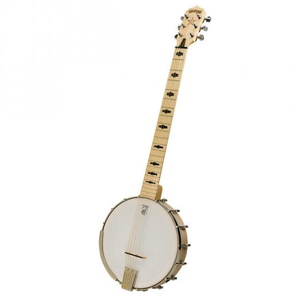 Custom Deering Goodtime 6 String Banjo 2016 Blonde Banjitar #1 image