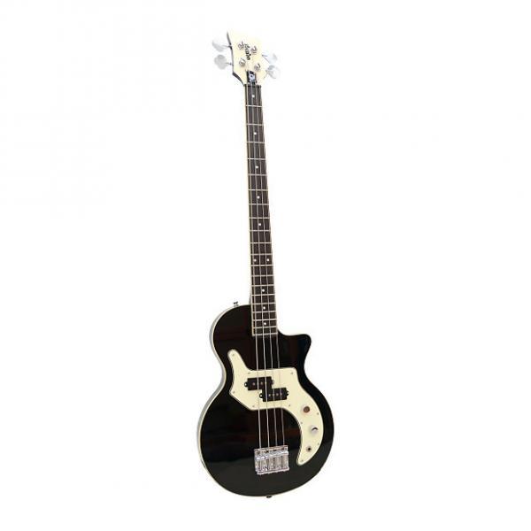 Custom Orange O-Bass 4 String Bass Guitar wGig Bag Black with Binding #1 image