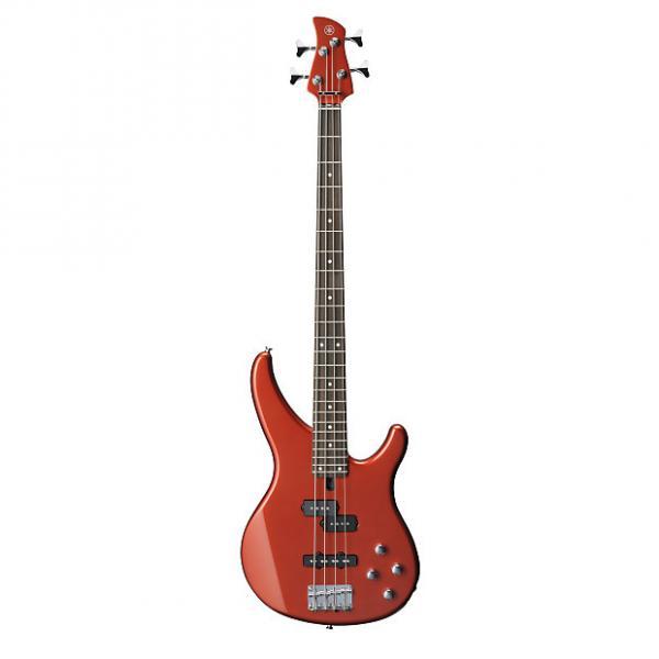 Custom Yamaha TRBX204 4 String Electric Bass Guitar Bright Red Metallic Finish #1 image