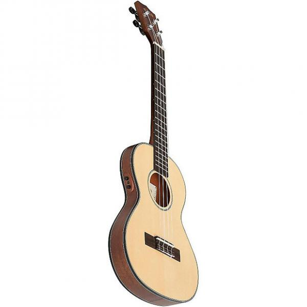Custom Kala KA-SSTU-TE Mahogany Travel Tenor Acoustic-Electric Ukulele #1 image