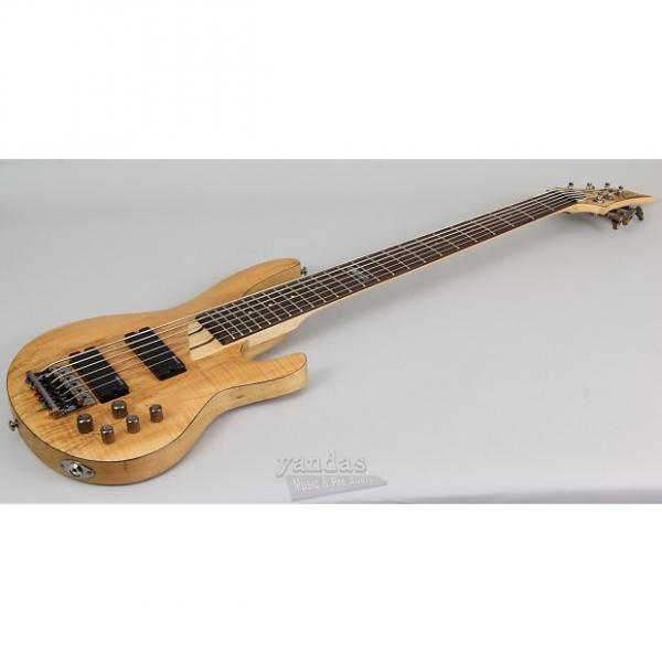 Custom LTD B-206 6 String Bass Guitar | Spalted Maple Top - Natural #1 image