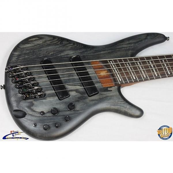 Custom Ibanez SRFF806 Fanned-Fret Six-String Electric Bass, Black Stained, NEW 6 #35106 #1 image