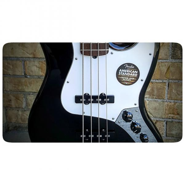 Custom Fender American Standard Jazz Bass Black #1 image