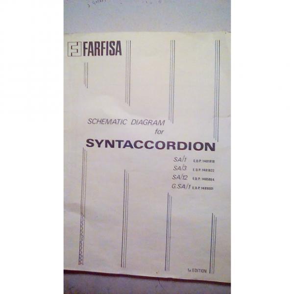 Custom Farfisa Schmatic for SYNTACCORDION N/A N/A #1 image