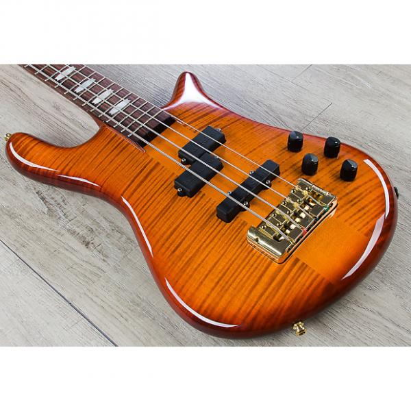Custom Spector Euro4 LX 4-String Bass Guitar Bartolini PJ Pickups Ultra Amber Gloss #1 image