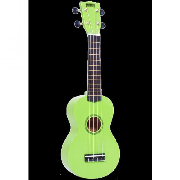Custom Mahalo Rainbow Green Soprano Ukulele #1 image