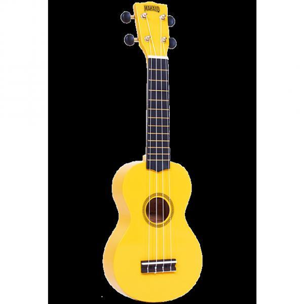 Custom Mahalo Rainbow Yellow Soprano Ukulele #1 image