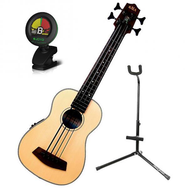 Custom Kala UBASS-SSMHG-FL Fretless Ukulele Bass Bundle #1 image