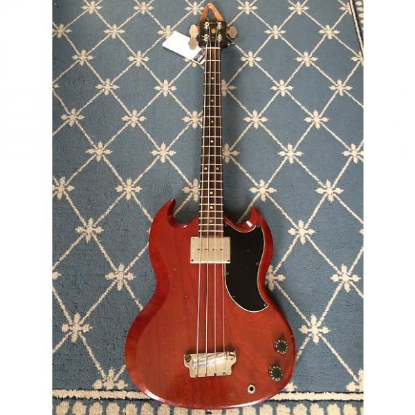 Custom Gibson EB-0 Bass (Headstock Repair) 1965 See-Thru Cherry #1 image